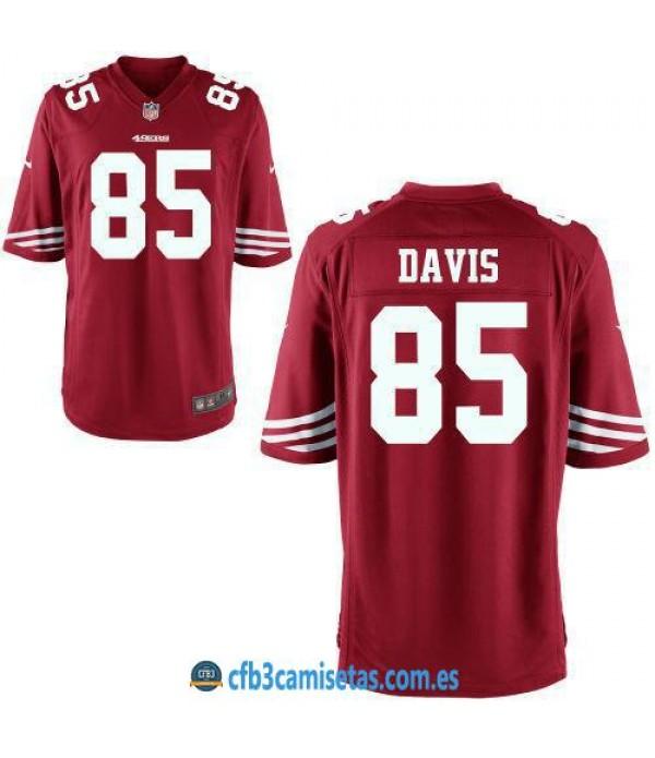 CFB3-Camisetas Vernon Davis San Francisco 49ers Red