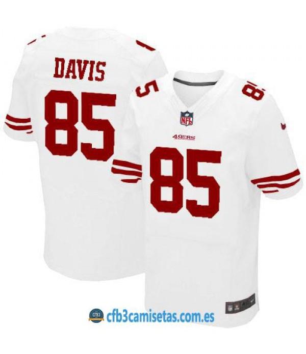 CFB3-Camisetas Vernon Davis San Francisco 49ers White