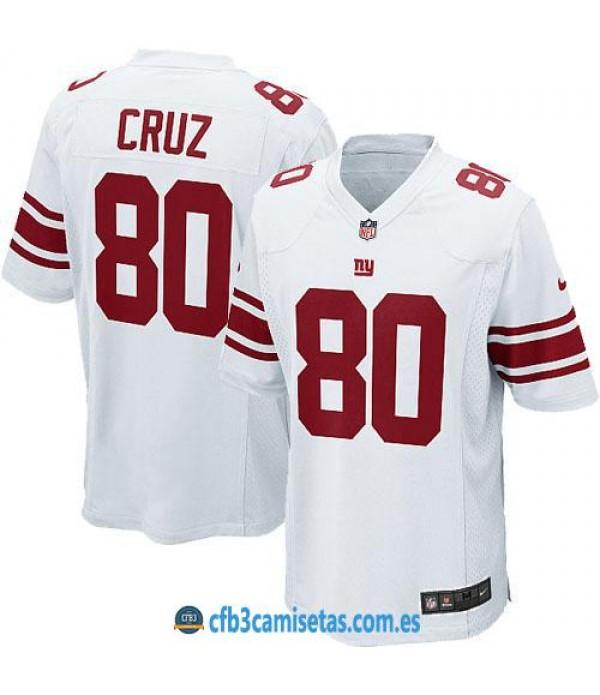 CFB3-Camisetas Victor Cruz NY Giants White/Red