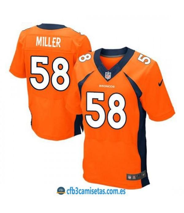 CFB3-Camisetas Von Miller Denver Broncos Orange