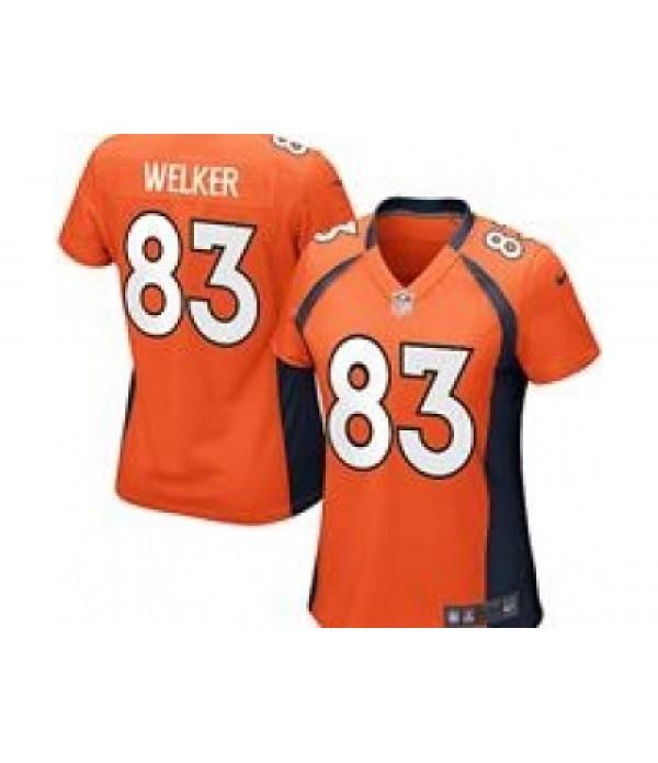 CFB3-Camisetas Wes Welker Denver Broncos Orange