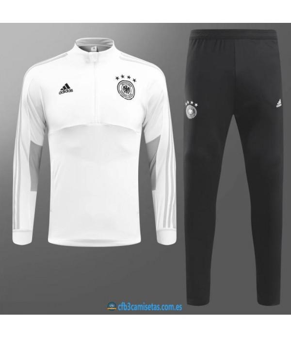 CFB3-Camisetas Chándal Alemania 2018 Blanco