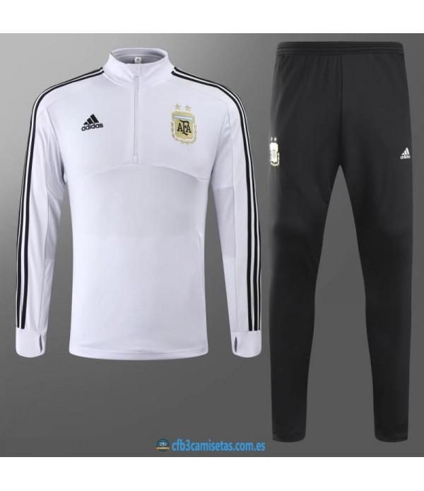 CFB3-Camisetas Chándal Argentina 2018 Blanco