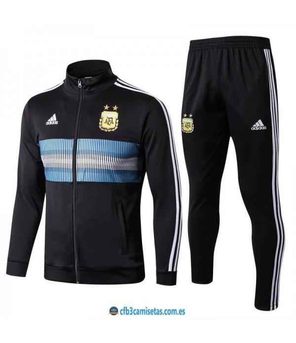 CFB3-Camisetas Chándal Argentina 2018 Negro