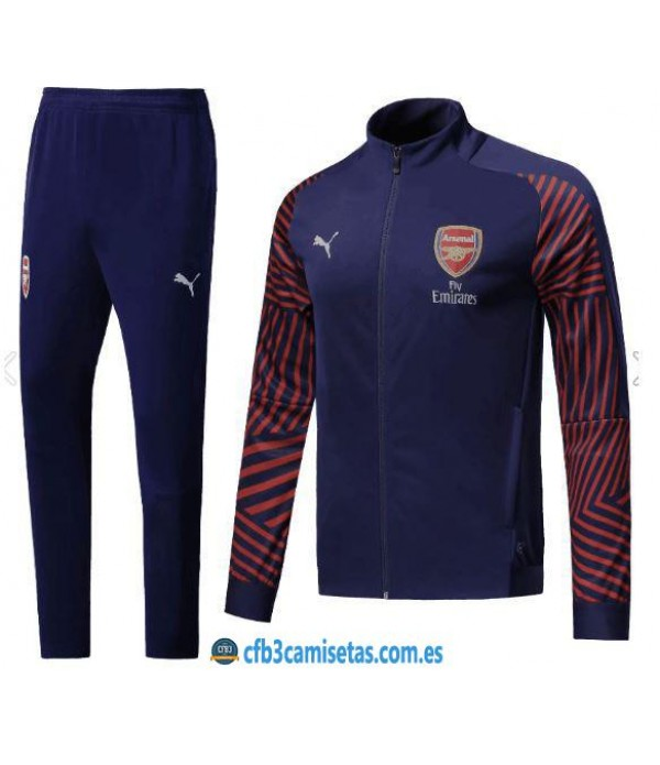 CFB3-Camisetas Chandal Arsenal 2018 2019 Azul