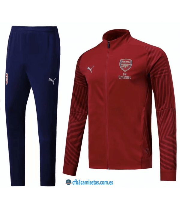 CFB3-Camisetas Chandal Arsenal 2018 2019 Rojo