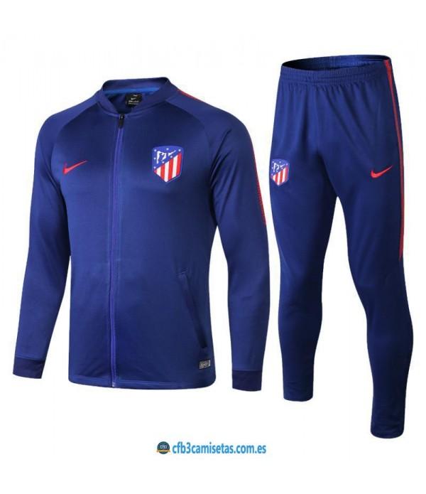 CFB3-Camisetas Chándal Atlético de Madrid Azul 2...