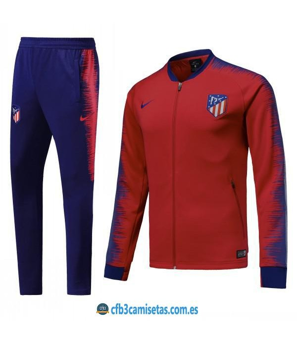 CFB3-Camisetas Chándal Atlético de Madrid Rojo/Azul 2018 2019