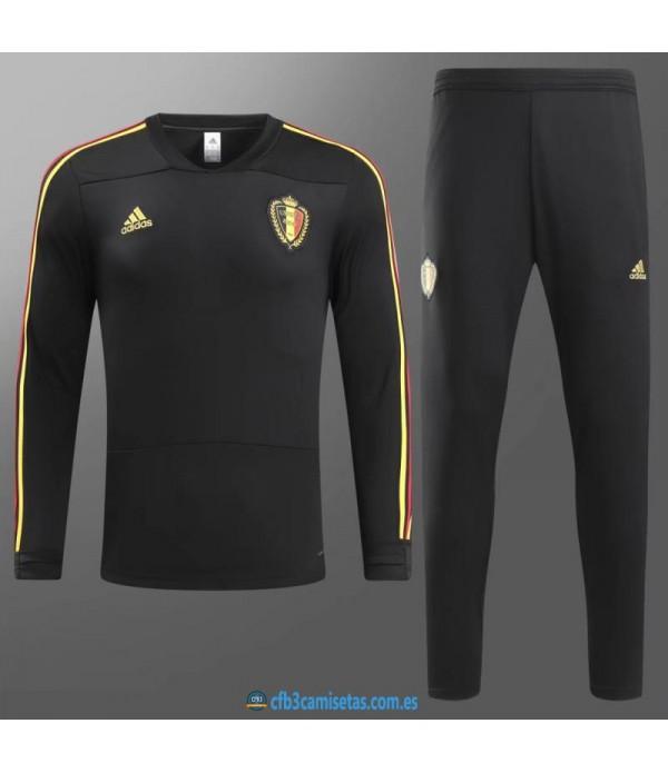 CFB3-Camisetas Chándal Bélgica 2018