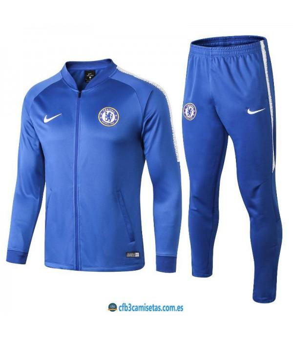 CFB3-Camisetas Chándal Chelsea 2018 2019 Azul