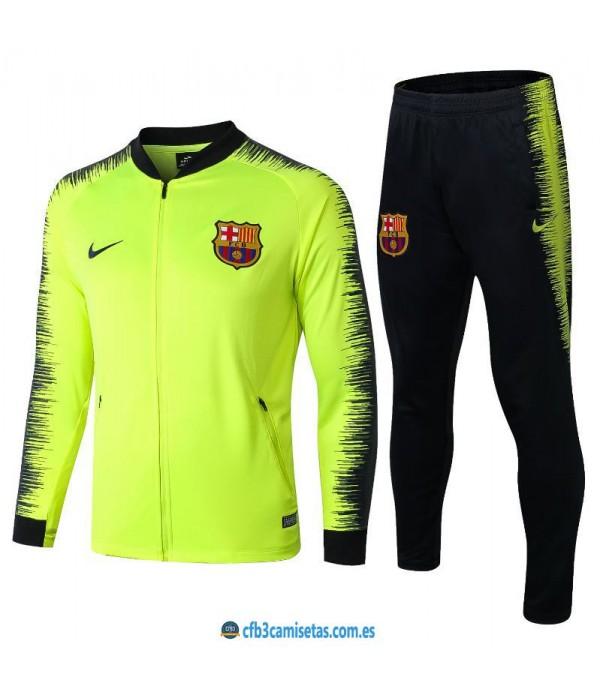 CFB3-Camisetas Chándal FC Barcelona 2018 2019 Amarillo