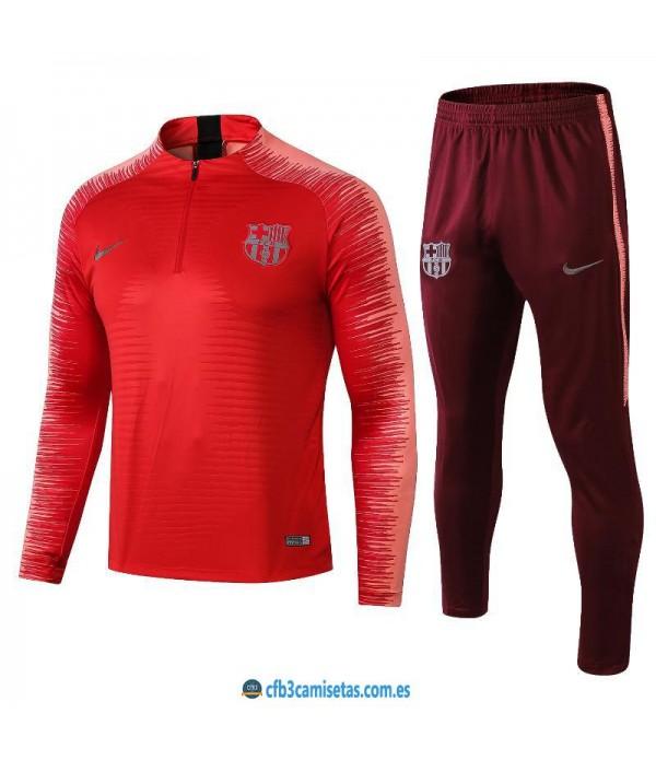 CFB3-Camisetas Chándal FC Barcelona 2018 2019 Roj...