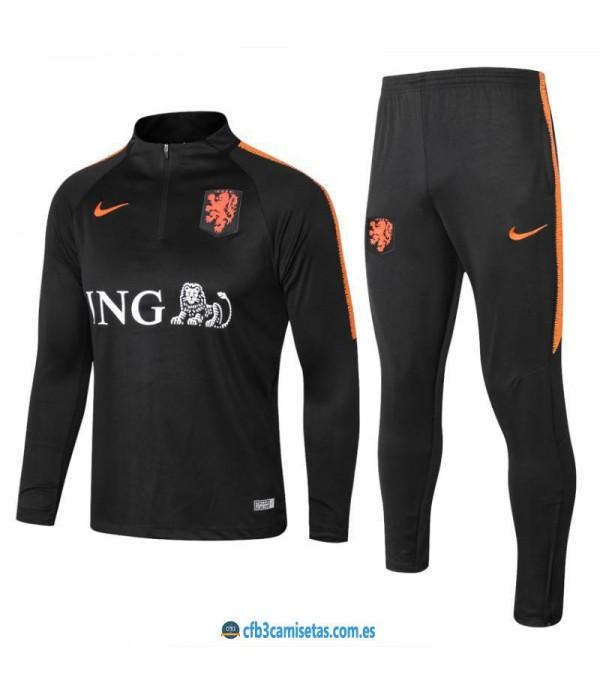 CFB3-Camisetas Chándal Holanda 2018 Sudadera