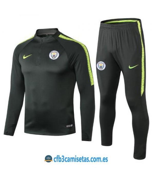 CFB3-Camisetas Chándal Manchester City 2018 2019 2
