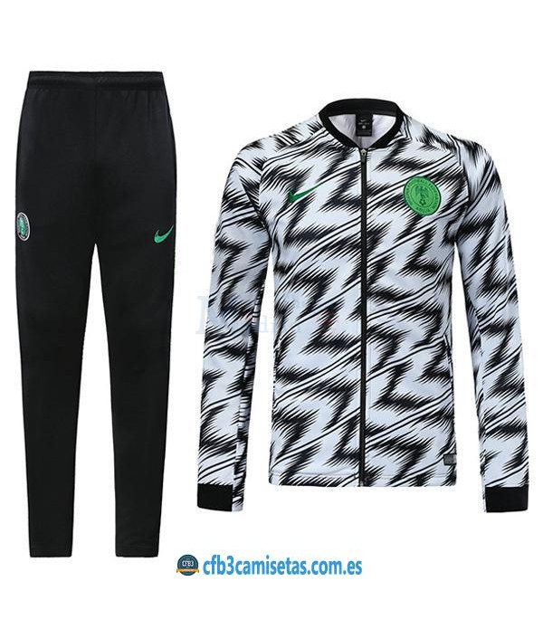 CFB3-Camisetas Chándal Nigeria 2018 Blanco