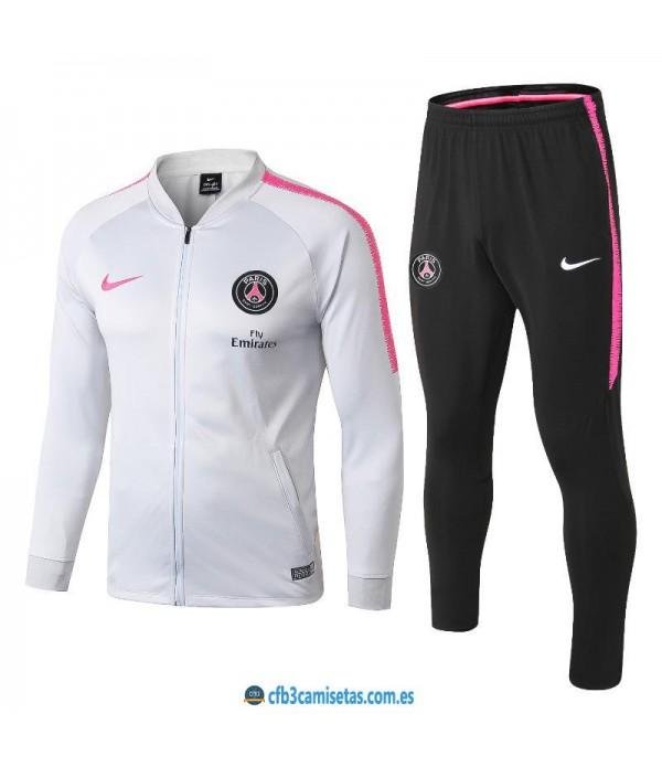 CFB3-Camisetas Chándal PSG 2018/2019 White 2