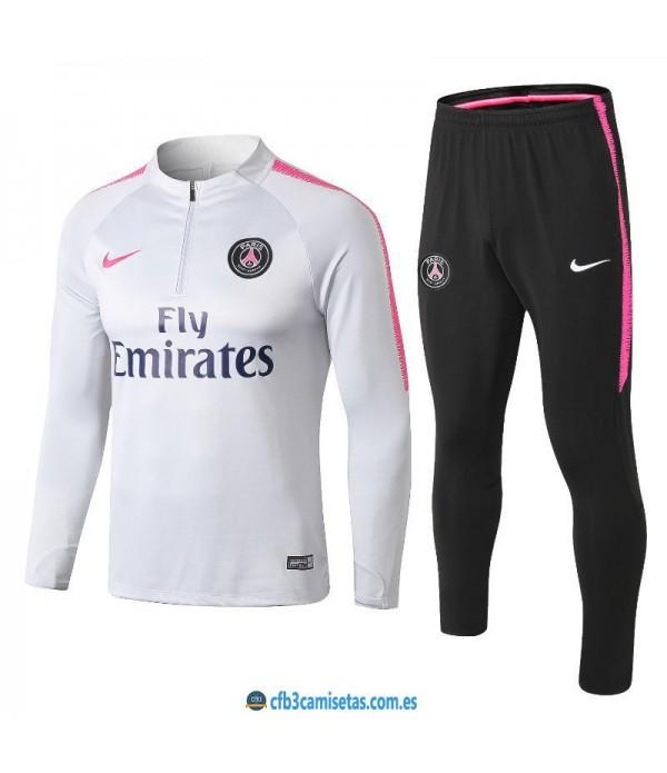 CFB3-Camisetas Chándal PSG 2018/2019 White
