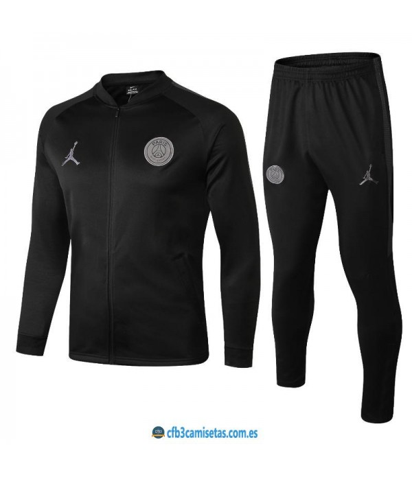 CFB3-Camisetas Chándal PSG x Jordan 2018 2019 All Black