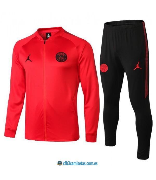 CFB3-Camisetas Chándal PSG x Jordan 2018 2019 Ros...