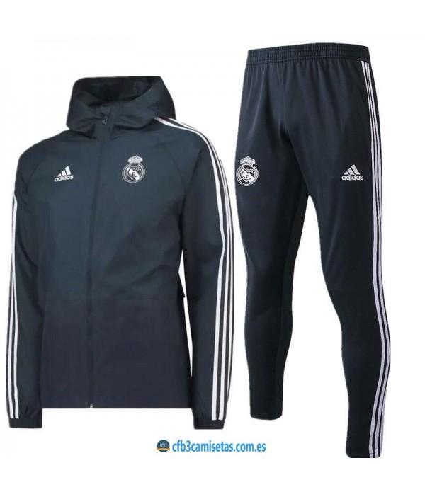 CFB3-Camisetas Chándal Real Madrid 2018 2019 Negro