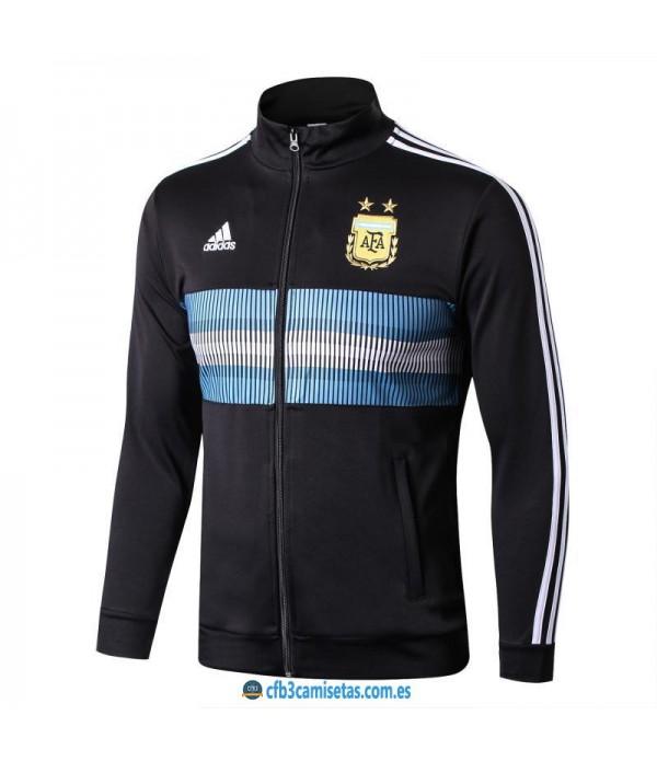 CFB3-Camisetas Chaqueta Argentina 2018 Negra