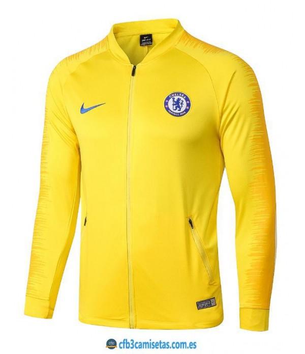 CFB3-Camisetas Chaqueta Chelsea 2018 2019 Amarilla