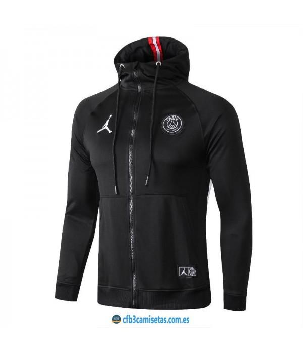 CFB3-Camisetas Chaqueta con capucha PSG x Jordan 2...