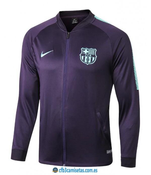 CFB3-Camisetas Chaqueta FC Barcelona 2018 2019 Azul Marino