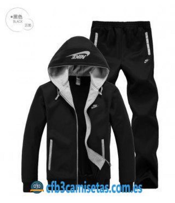 CFB3-Camisetas Chaqueta Nike Originals Sudaderas Plus de terciopelo Sudadera+Pantalón S3