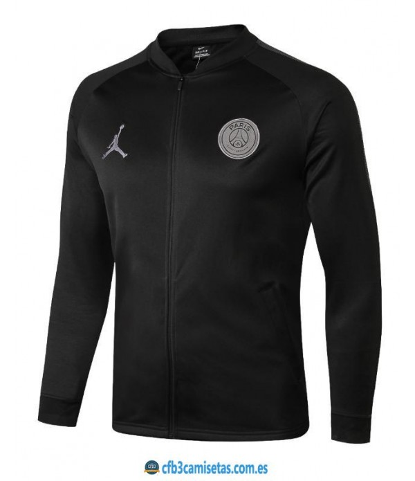 CFB3-Camisetas Chaqueta PSG x Jordan 2018 2019 All Black