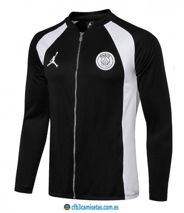 CFB3-Camisetas Chaqueta PSG x Jordan 2018 2019 Negro/Gris