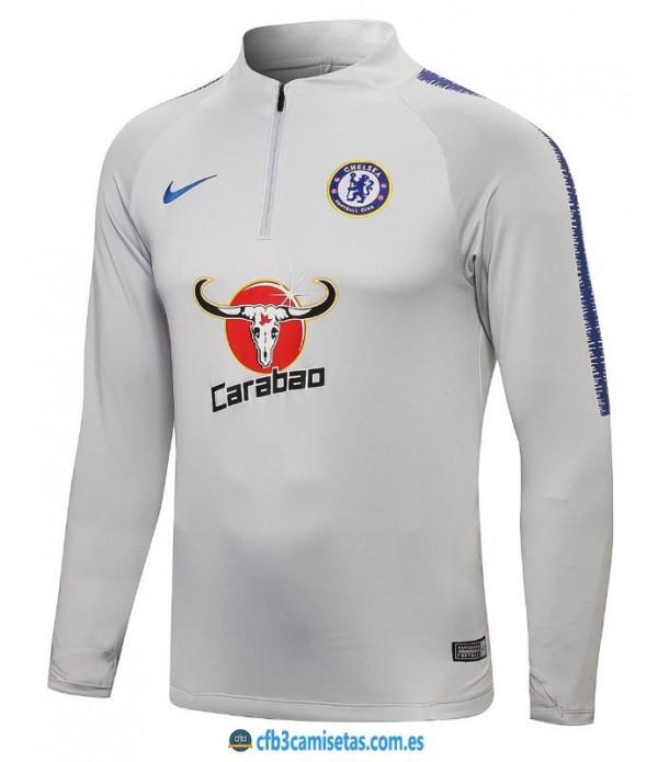 CFB3-Camisetas Sudadera Chelsea 2018 2019 Gris