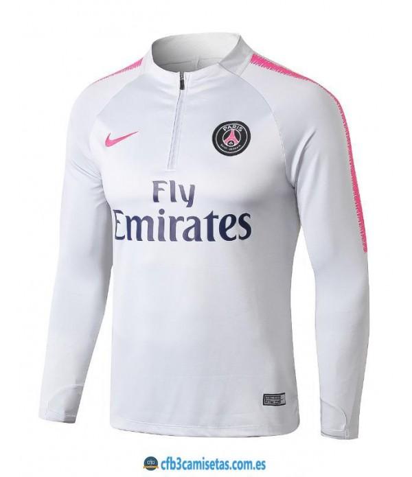 CFB3-Camisetas Sudadera PSG 2018/2019 White