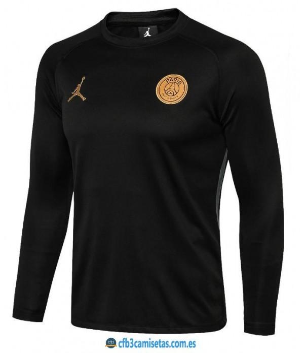 CFB3-Camisetas Sudadera PSG x Jordan 2018 2019 Golden
