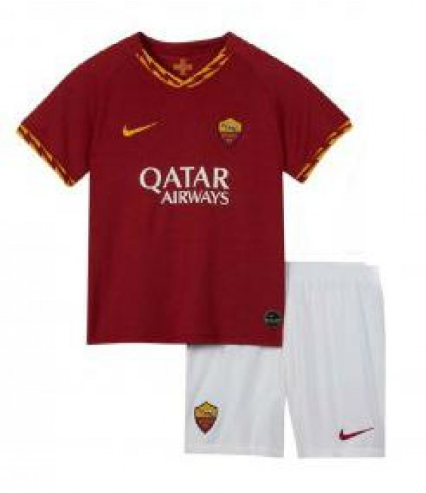 CFB3-Camisetas AS Roma 1a Equipación 2019 2020 Kit Junior