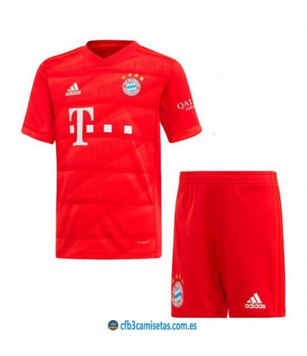 CFB3-Camisetas Bayern Munich 1a Equipación 2019 2020 Kit Junior