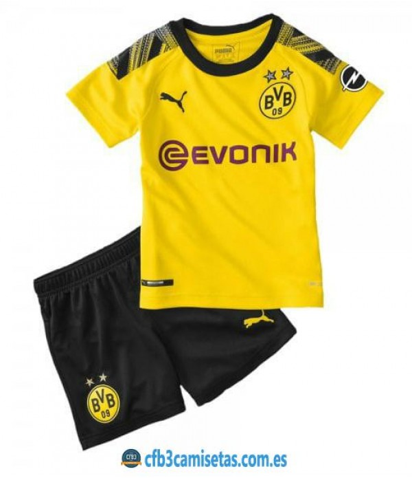 CFB3-Camisetas Borussia Dortmund 1a Equipación 2019 2020 Kit Junior