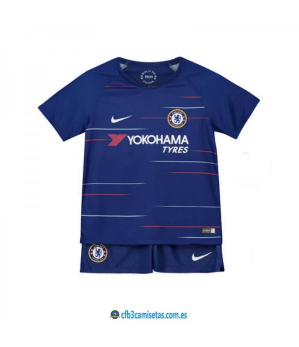CFB3-Camisetas Chelsea FC 1ª Equipación 2018/2019 NIÑOS
