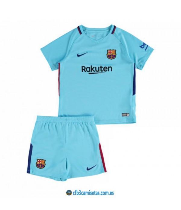 CFB3-Camisetas FC Barcelona 2ª Equipacion NIÑOS 17/18