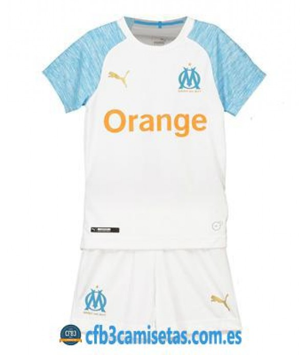 CFB3-Camisetas Kid Olympique Marsella 1ª 2018 2019 NIÑOS