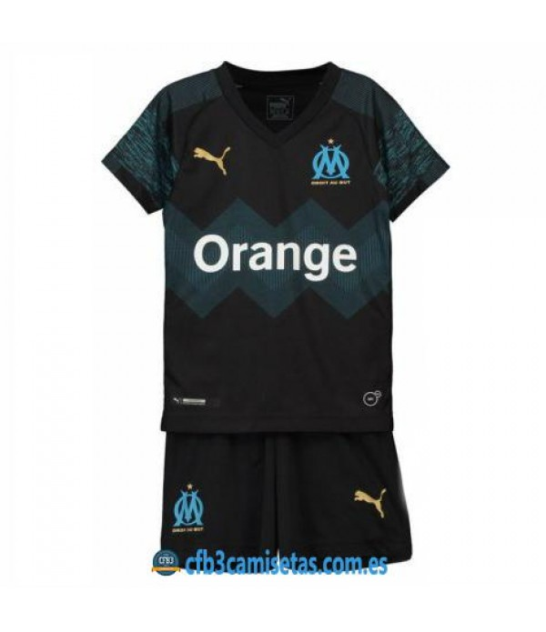 CFB3-Camisetas Kid Olympique Marsella 2ª 2018 2019 NIÑOS