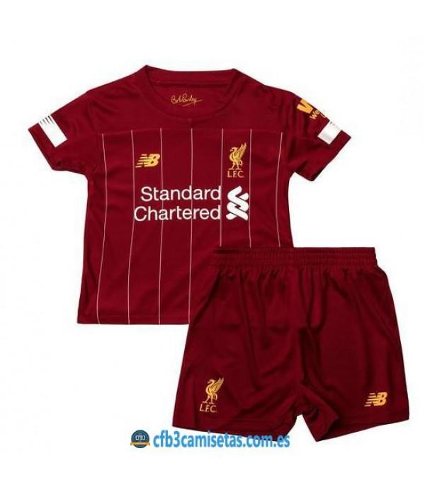 CFB3-Camisetas Liverpool 1a Equipación 2019 2020 Kit Junior