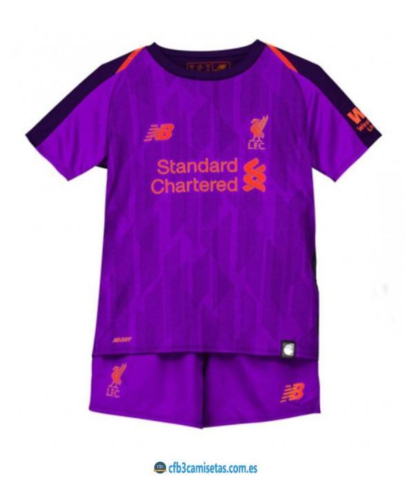 CFB3-Camisetas Liverpool 2a Equipación NIÑOS 201...