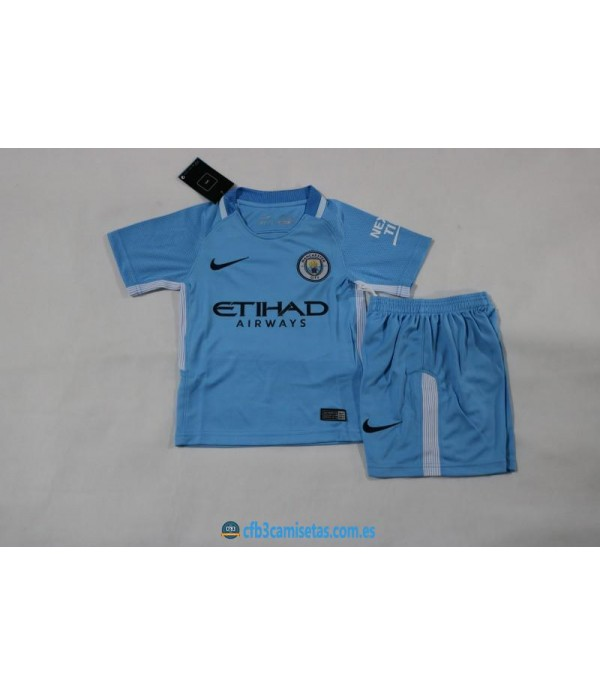 CFB3-Camisetas Manchester City 1ª Equipacion NIÑOS 17/18