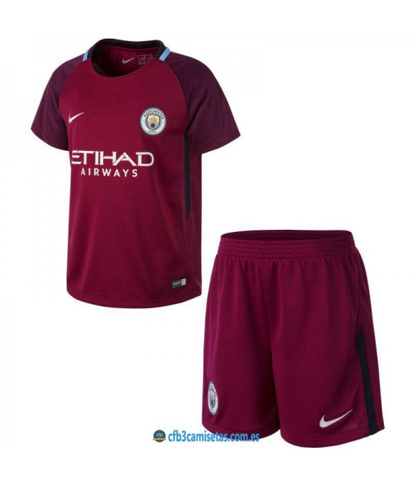 CFB3-Camisetas Manchester City 2ª Equipacion NIÑOS 17/18