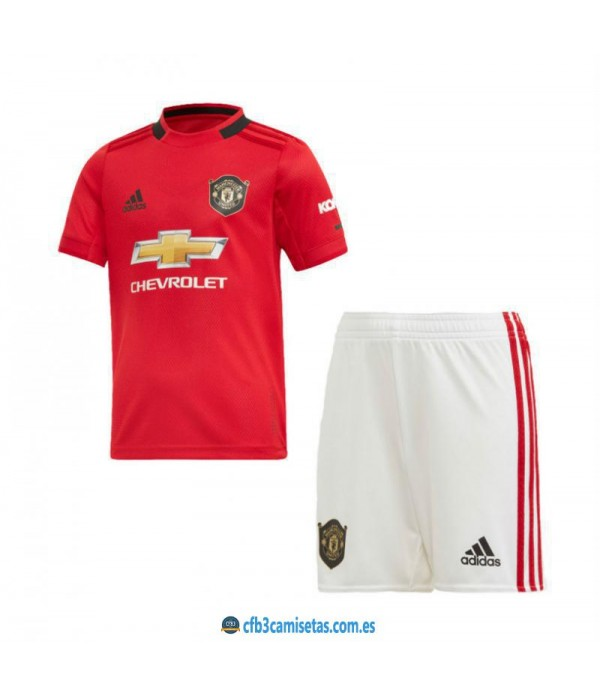 CFB3-Camisetas Manchester United 1a Equipación 2019 2020 Kit Junior