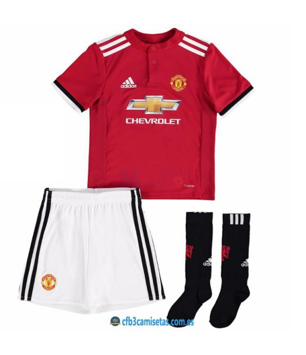 CFB3-Camisetas Manchester United 1ª Equipacion NIÑOS 17/18