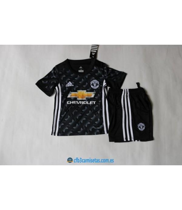 CFB3-Camisetas Manchester United 2ª Equipacion NIÑOS 17/18