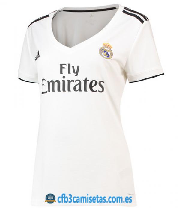 CFB3-Camisetas 1ª Equipación Real Madrid 2018 2019 MUJER