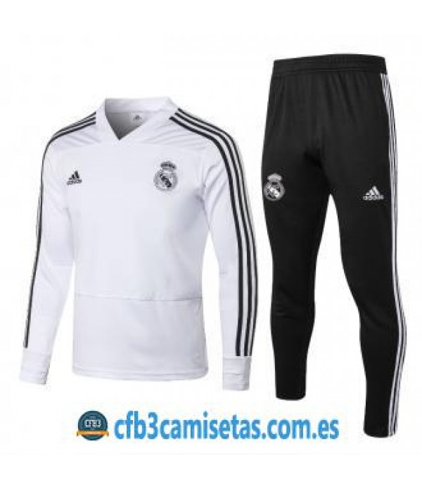 CFB3-Camisetas Chándal Real Madrid 2018 2019